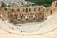Odeón or Theatre of Herodes Atticus, Acropolis, Athens, Greece.
