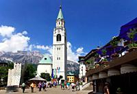 Basilica of SS Filippo and Giacomo, Cortina d´Ampezzo, Veneto, Italy