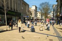 Broadmead CITY BRISTOL Bristol Broadmead Shopping centre pedestrain precinct