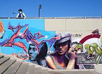 Graffiti at the Puente de Chapina bridge Seville