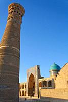 The Kalon Minaret and the Mir-i-Arab Medressa, Bukhara, Uzbekistan