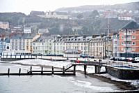 Aberystwyth in the snow, November 26 2010  Wales UK
