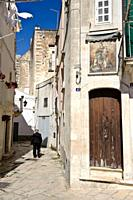 Alley in the old town of Martina Franca, Puglia, Italy