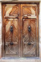 Old door, Ayora, Alicante, Valencia, Spain, Europe, Peoples of Spain