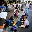 Street musicians, Grafton street, Dublin, Ireland