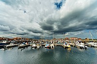 Boats In A Harbor, Hartlepool, Durnham, England