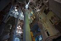 Interior Of The Church Of The Holy Family, Barcelona, Spain
