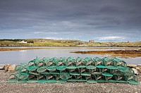 Fishing Traps Sitting On The Shore, Isle Of Barra, Scotland