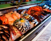 Fish Display In Fishmonger's Shop