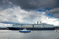 Cruise Ship On The River Tyne, South Shields, Tyne And Wear, England