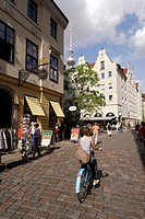 Berlin  Germany  Nikolaiviertel Nikolai Quarter, the reconstructed medieval heart of Berlin