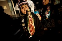A pilgrim carries a statue of the Our Lady of Guadalupe outside the Our Lady of Guadalupe Basilica in Mexico City, December 11, 2010  Hundreds of thou...