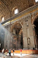 Rome Italy Interior of St Peter's Basilica / Basilica San Pietro