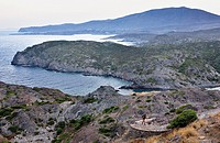 View from lighthouse of Cap de Creus  Cap de Creus Natural Park Costa Brava  Girona province  Catalonia  Spain