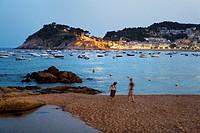 Tossa de Mar  Mar Menuda beach Costa Brava  Girona province  Catalonia  Spain