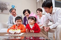 Family life with traditional Chinese style