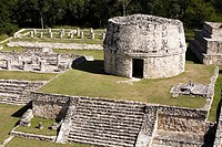 Archaeological site Mayapán, Yucatan, Mexico