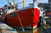 Fishing boats and other small boats in Balbriggan harbour, Co. Dublin, Ireland