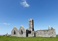 Ross Abbey near Headford, County Galway, Connacht, Republic of Ireland, Europe