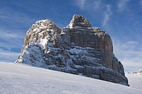 Rock formation on top of the Dachstein massif, Styria, Austria, Europe