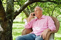Senior man using mobile phone