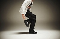 Hip Hop Dancer Performing in Studio