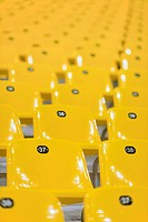 Yellow stadium seats