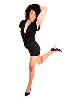 Hispanic girl dancing.