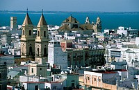 Cadiz - view from Torre Tavira Iglesia de San Antonio - Andalusia Spain