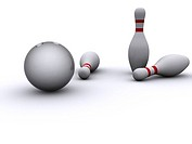 bowling pins. 3d