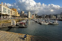 Gijon harbour, Asturias, Spain