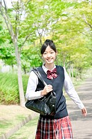 Junior High School Student Walking