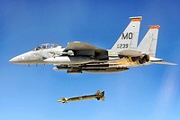 An F-15E Strike Eagle drops a Guided Bomb Unit-28 during a Combat Hammer mission at Hill Air Force Base, Utah, Aug 10, 2010  The pilot crew is assigne...