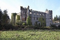 Ruperra Castle, a derelict Castle, near Caerphilly, south Wales,devastated by fire in 1941 and left to deteriorate