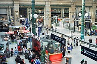 Paris, France- Gare du Nord Train Station, General Overview, inside Crowd Scene, Eurostar Train