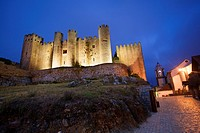 Portugal, Estremadura, Obidos. Castle built by Alfonso Henriques in 1148, now a Pousada hotel.