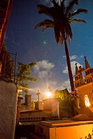 full moon over cemetery, sayulita, mexico
