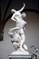 Italien Florenz Raub der Sabinerinnen, Statues Italy Florence