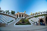 Guell Park  Barcelona, Catalonia  Spain