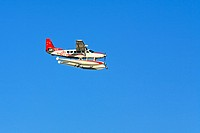A Sydney Sea Plane, Cessna Caravan C 208, 2007 model with a blue sky background  Australia