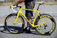 Fabian Cancellara's special bicycle in yellow, Tour de France 2010, Rotterdam, Netherlands, Europe