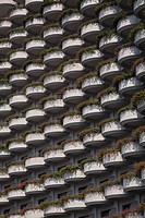 Pattern of hotel balconies, Bangkok, Thailand