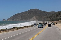 Highway No. 1 at Morro Bay, Pacific Ocean, California, USA, North America