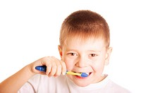 Teeth brushing kid