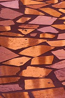 Light reflecting on marble tiles in sidewalk, The John & Mable Ringling Museum of Art, Sarasota, Florida