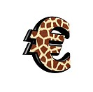 3d letter with giraffe fur texture