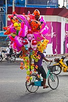 Balloon seller. Ho Chi Minh City (formerly Saigon). South Vietnam