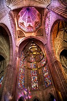 Temple of Atonement, Templo Expiatorio, Guadalajara, Mexico Church Dome and Stained Glass Windows Inside Overview