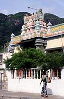 Seychelles, Mahe, Victoria, hindu temple.