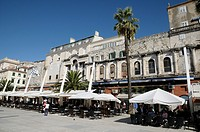 Croatia, Dalmatia, Split  Waterfront named Riva